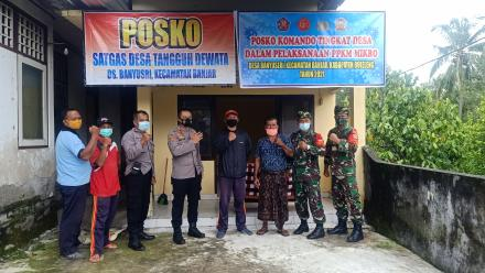 Pembuatan Posko Komando Tingkat Desa Dalam Pelaksanaan PPKM Mikro